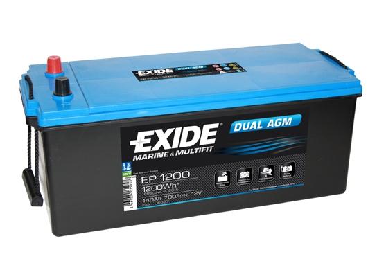 EXIDE DUAL AGM EXIDE DUAL AGM 12V 240AH 1200A, EP2100