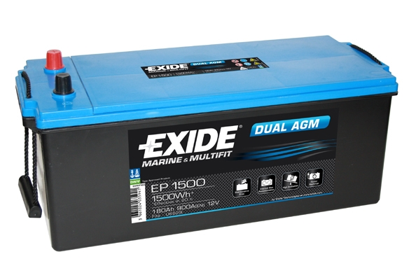 EXIDE DUAL AGM EXIDE DUAL AGM 12V 180AH 900A, EP1500