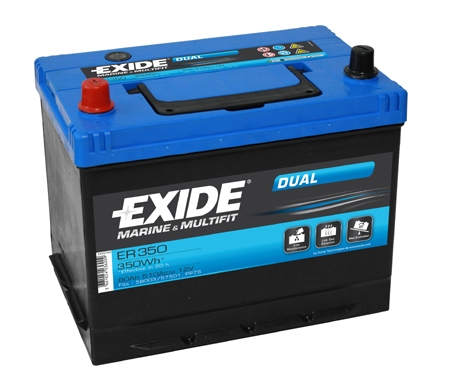 EXIDE DUAL  EXIDE DUAL 12V 80AH 510A, ER350