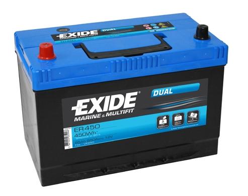 EXIDE DUAL EXIDE DUAL 12V 95AH 650A, ER450