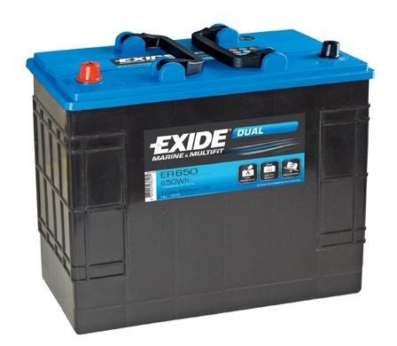 EXIDE DUAL EXIDE DUAL 12V 142AH 850A, ER650
