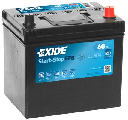 Start-Stop EFB Autobateria EXIDE Start Stop EFB 12V 60Ah 520A, EL604