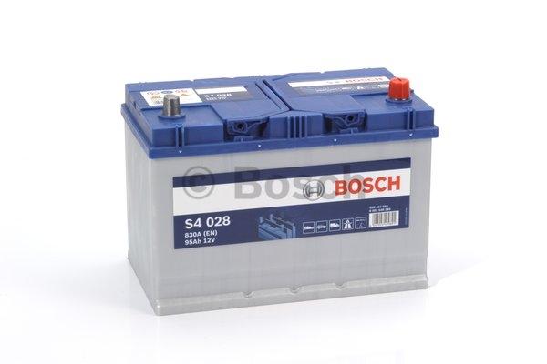 S4 Autobatéria BOSCH S4/12V, 95Ah, 830A - 0092S40280
