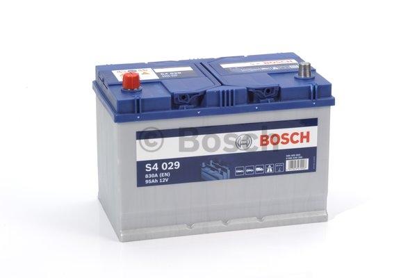 S4 Autobatéria BOSCH S4/12V, 95Ah, 830A - 0092S40290