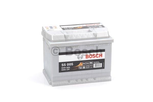 S5 Autobatéria BOSCH S5/12V, 63Ah, 610A - 0092S50050