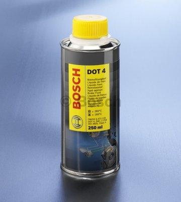 Brzdová kvapalina Bosch 0,25L.Bod varu 265C.