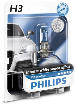 WhiteVision Philips H3 12V 55W PK22s WhiteVision - blister 1ks