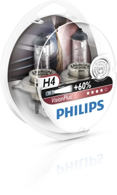 Philips 12V H4 Vision Plus +60% Box
