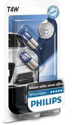 Philips 12V 4W Ba9s WhiteVision blister 2ks