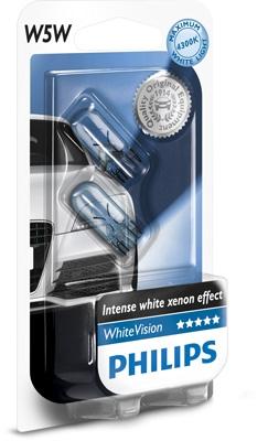 Philips 12V 5W W2,1x9,5d W5W WhiteVision blister 2ks
