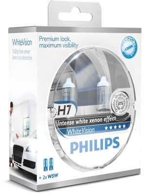 Philips 12V H7 55W PX26d+W5W WhiteVision Box