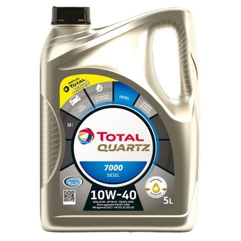 Motorový olej TOTAL QUARTZ 7000 DIESEL 10W-40 5L.