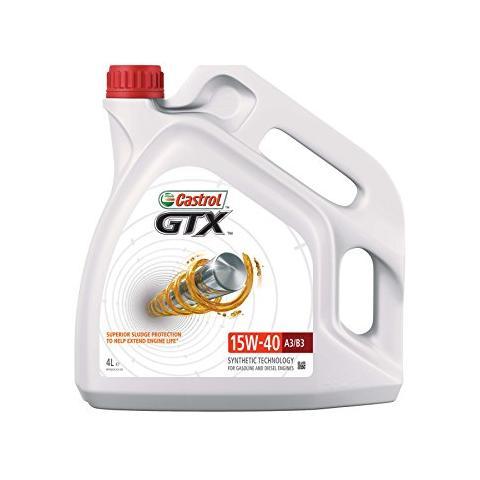 motorový olej CASTROL  GTX High Milage  15W-40 4L.