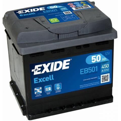 Autobateria Exide Excell 12V 50AH 450A EB501