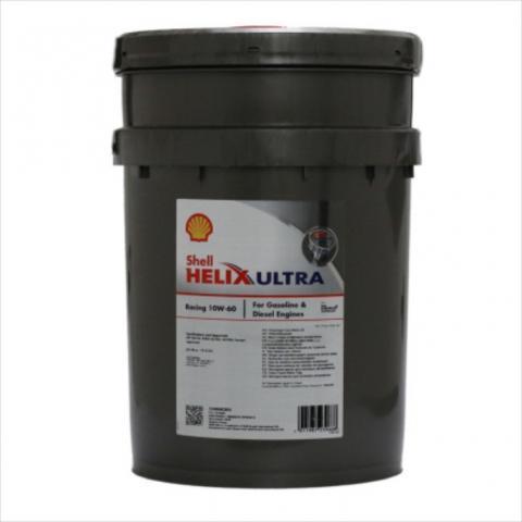 Motorový olej Shell Helix Ultra Racing 10W-60 20L.