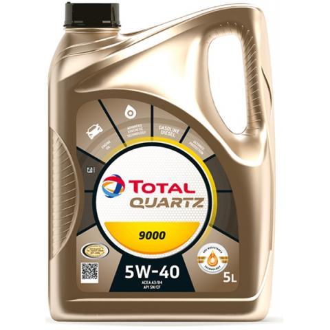 Motorový olej TOTAL QUARTZ 9000 5L 5W-40 5L.