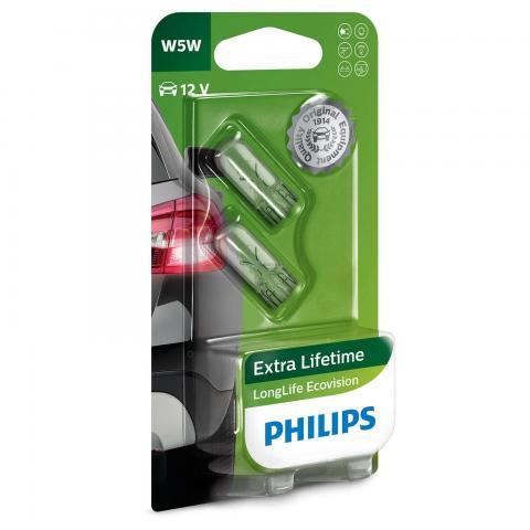 Philips 12V 5W W2,1x9,5d W5W LonferLife EcoVision blister 2ks