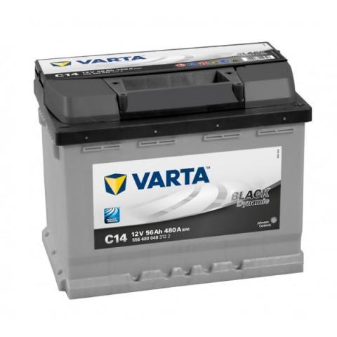 Autobatéria VARTA BLACK dynamic 12V 56Ah 480A C14  ,  556400048