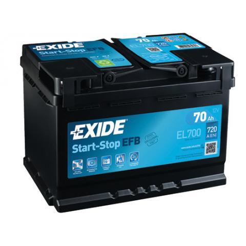 EXIDE START-STOP EFB 70Ah, 12V, EL700