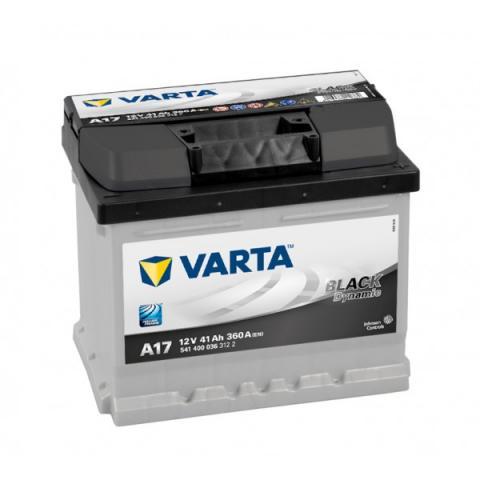 Autobatéria VARTA BLACK dynamic 12V 41Ah 360A A17  ,  541400036