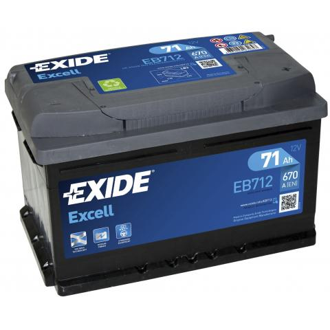 Autobateria EXIDE Excell 71Ah, 12V, EB712