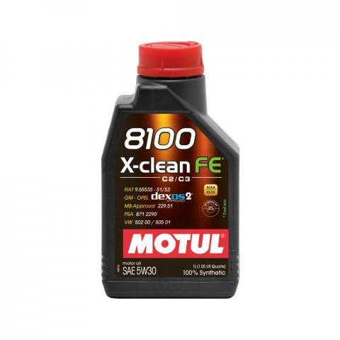 Motorový olej Motul 8100 X-Clean FE 5W-30 1L.
