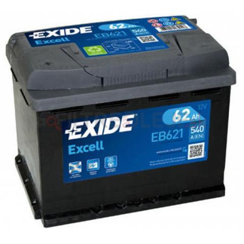 Exide Excell 12V 62Ah 540A EB621