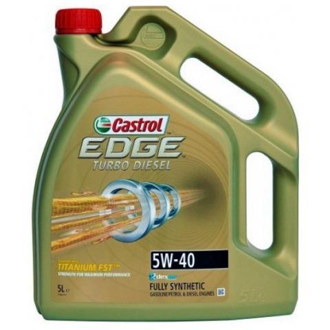 Motorový olej Castrol Edge Turbo Diesel Titanium FST 5W-40 5L.