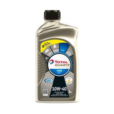 Motorový olej TOTAL QUARTZ 7000 DIESEL 10W-40 1L.