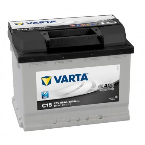 utobatéria VARTA BLACK dynamic 12V 56Ah 480A C15 ľavá  ,  556401048