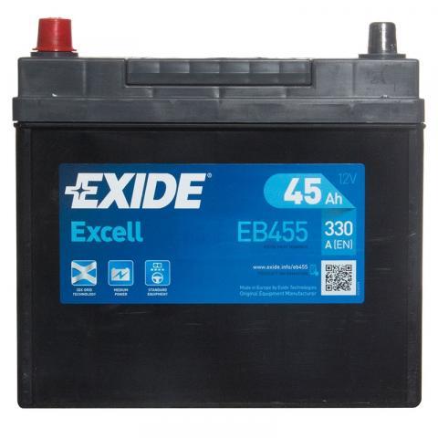 EXIDE Excell 45Ah, 12V, EB455