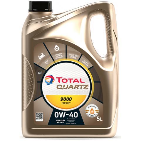 Motorový olej Total Quartz Energy 9000 0W-40 5L.