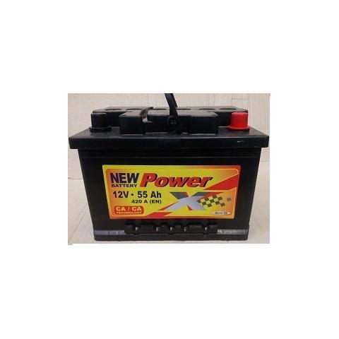 Autobateria PowerX new 12V/55 Ah Ca/Ca