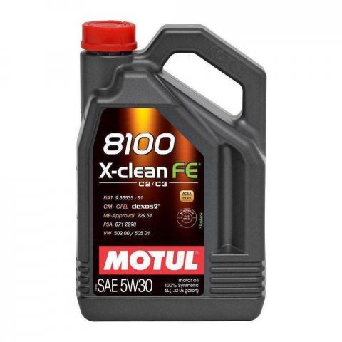 Motorový olej Motul 8100 X-Clean FE 5W-30 5L
