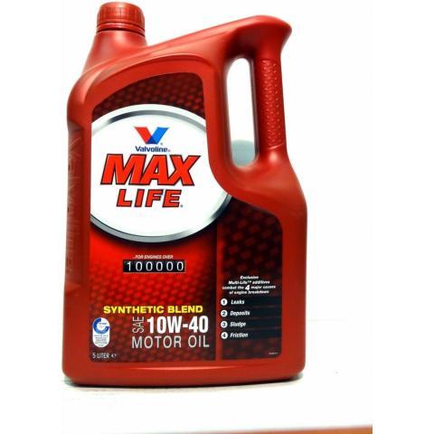 Motorový olej VALVOLINE MAXLIFE 10W-40 5L.