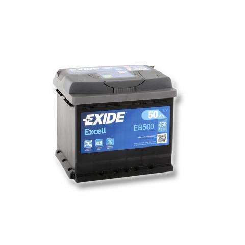 Autobateria Exide Excell 12V 50AH 450A P+ EB500