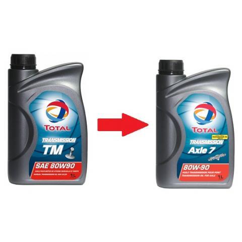 Prevodový olej Total Transmission AXLE 7   /TM/  80W-90 1L
