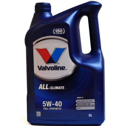 Motorový olej Valvoline All Climate 5W-40  5L
