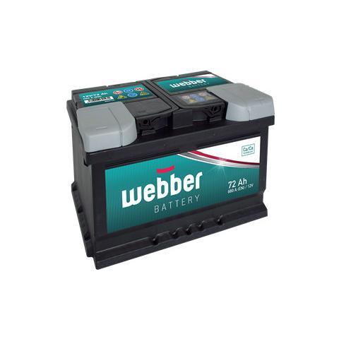 Autobatéria WEBBER 12V 72 ah 640 A