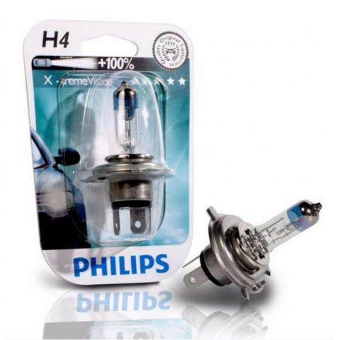 X-tremeVision Philips 12V H4 X-treme Vision +100%