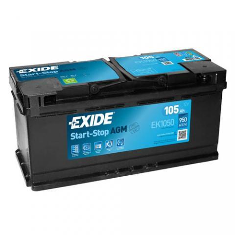 Autobateria EXIDE START-STOP AGM 12V 105Ah 950A, EK1050