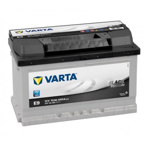 Autobatéria VARTA BLACK dynamic 12V 70Ah 640A  E9  ,  570144064