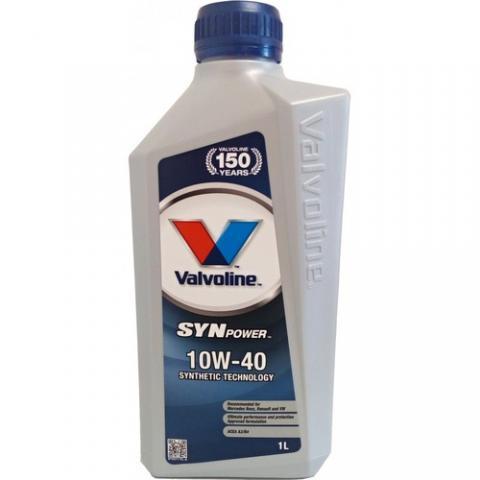 Motorový olej Valvoline Synpower 10W-40 1L.