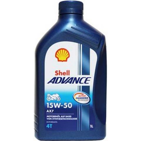Shell Advance AX7 4T 15W-50 1L.