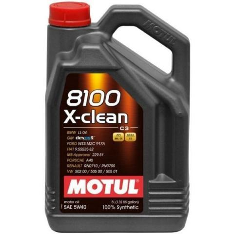 Motorový olej Motul 8100 X-Clean C3 5W-40 5 l