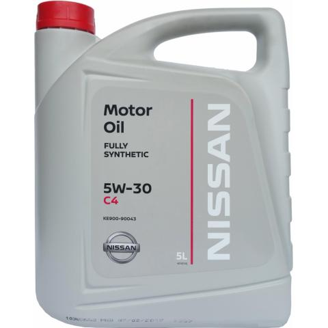 Motorový olej Nissan DPF C4 5W-30 5L.