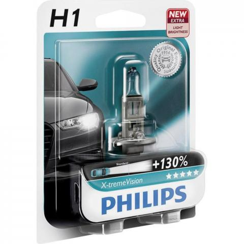 X-tremeVision Philips 12V H1 Xtreme Vision blister+130%