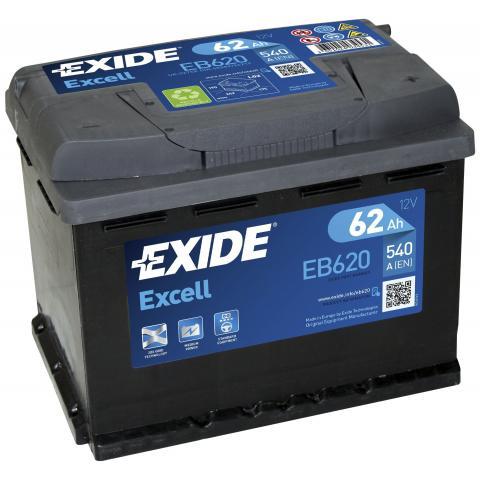 EXIDE EXCELL 12V 62Ah 540A, EB620