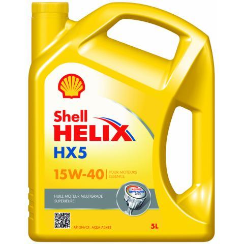 Motorový olej SHELL HELIX HX5 15W-40 5L.