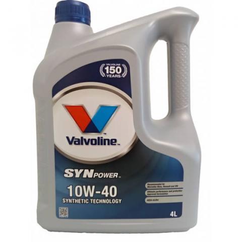 motorový olej Valvoline Synpower 10W-40 4L.